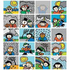 Stammetjes Stickers Kinderen en het weer