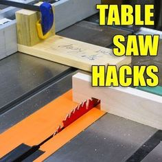 5 Quick Table Saw Hacks - Woodworking Tips and Tricks #woodworkinghacks