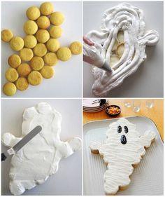 Halloween Ghost Cupcake Cake