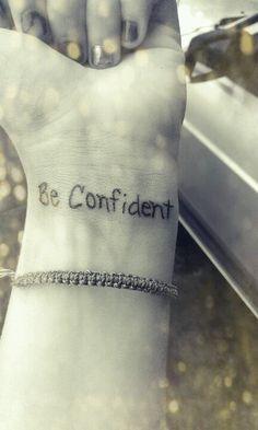 Inspirational Wrist Tattoo