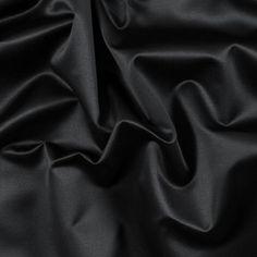 Cavalli Italian Black Cotton Sateen