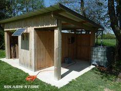 Ain (01) / Système d'arrosage solaire permettant de pomper dans une  cuve de récupération d´eau de pluie (panneau 85Wc + pompe Shurflo 12v)