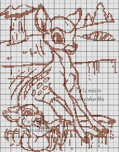 Bambi en grille gratuite monochrome :