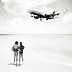 Josef Hoflehner photographs the beaches of St. Martin in the Caribbean which are very close to the runways of the Princess Juliana International Airport