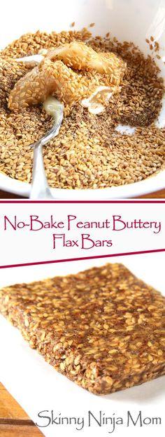 No-Bake Peanut Buttery Flax Bars
