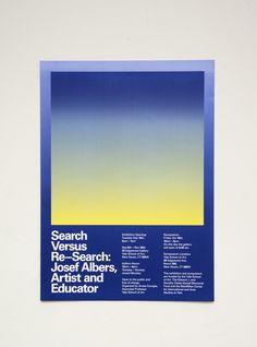 Megan Billman (New Haven) + Biba Kosmerl (New York), Poster for Search Versus Re—Search: Josef Albers, Artist and Educator, 2015