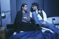David Cronenberg and Jeremy Irons filming Dead Ringers (1988)