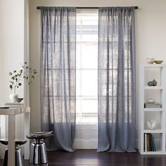 Gray curtains.  Just got a pair at lowes just like these.  $15 per panel.  Look like a burlap.  Love<3