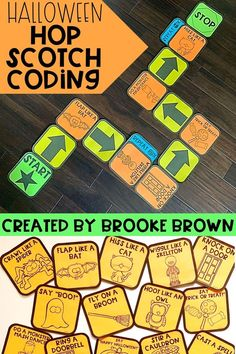Interactive unplugged coding with a Halloween twist! Halloween Hop Scotch Coding provides a simple, interactive introduction to unplugged, block-style coding that is perfect for Kindergarten through third graders as they learn the basics of programming.