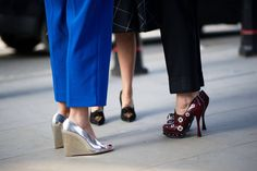PRADA ON RIGHT--The 50 Best Shoes of Fashion Month Street Style - The Cut