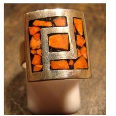 anillo diseño calado anillo diseño calado plata 925,, calado soldado,reconstituido Stone Jewelry, Metal Jewelry, Jewlery, Shot Glass, Artisan, Enamel, Brooch, Rings, Creative