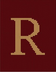 Weasley Sweater Letter R Art Print By DesignsByAND Harry Potter KnitHarry