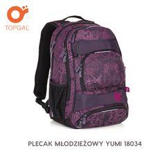 Dwukomorowy plecak Topgal w dziewczęcym designie
