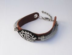Viking Knit plus leather strap and metal centerpiece