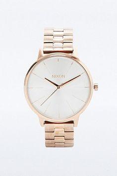 """Nixon – Armbanduhr """"Kensington"""" in Roségold"""