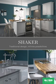 Shaker kitchen designs are incredibly versatile. Whether you prefer modern or traditional, minimalist or extravagant, our range of shaker kitchens are suited to every home and every budget.