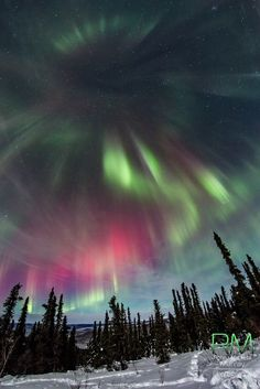 """Aurora in Fairbanks, Alaska, USA Marketa: """"Happy Winter Solstice. Here up North we are celebrating Winter Solstice, because it means we are getting our sun back everyday more and more, but we didn't expect so much so soon. It was a great time to celebrate winter solstice with Fireworks from our Nature. :-)"""""""