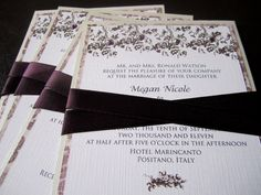 Wedding Invitations  Vintage Italian inspired with by tinkermel3, $3.50