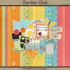 Digital Scrapbooking Garden Club Kit #DandelionDustDesigns #DigitalScrapbooking