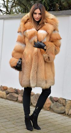 NEW 2017 GOLD FOX FUR COAT CLAS CHINCHILLA SABLE MINK LYNX SILVER FIRE VEST | eBay