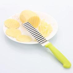 YANXIN  Steel Waves Crinkle Shape Knife Potato Cutter Cooking Fry Fries Household Shredders Slicers Kitchen Cutting Fruit Tools