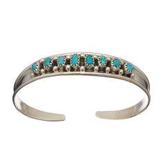 Bracelet Navajo, Turquoise sur argent. | Harpo Paris #bracelet #femme #turquoise #harpo #braceletturquoise #navajo