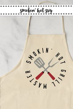 Make this awesome Grill Master Apron just in time for Grilling Season with the FREE SVG from Everyday Party Magazine #GrillMaster #BBQ #Apron #SVG