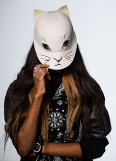 Vogue Daily — Opening Ceremony mask worn by Angel Haze  http://cultureclub.mx/WP/halloween-diy