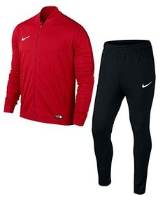 Nike Men's Academy 16 Knit Tracksuit Dri-FIT fabric wicks seat while mesh ventilates Articulated elbows and knees provide an ergonomic fit Front zippered pocket on each side provide convenient storage polyester Nike Outfits, Nike Clothes Mens, Nike Wear, Lined Flannel Shirt, Nike Tracksuit, Football Tops, Track Suit Men, Winter Outfits Men, Jogging Bottoms