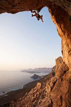 Climbing in Greece.
