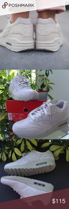 Air Max 1 Pinnacle Nike WMNS shoes, size 7,5 Nike Air Max 1 Pinnacle WMNS shoes  Premium leather upper for durability Visible Max Air heel unit in PU midsole for cushioning Moulded foam sockliner for cushioned comfort. New with box, no lid. Price is firm. Nike Shoes Sneakers