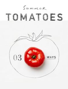 Nerding out on the lovely illustrations that go with these 3 tomato recipes on @Anthropologie's blog. #draw #cook #tomatoes