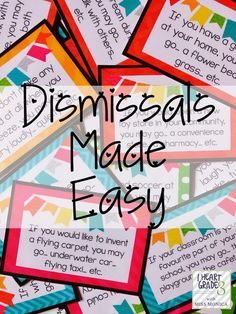 Dismissals Made Easy.  See how you can dismiss you students in a fun and engaging way!