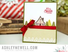 Sweet Holiday Card by Ashley Cannon Newell for Papertrey Ink (October 2015)