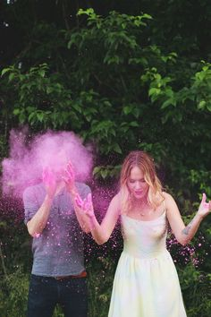 Beautiful Anniversary Photos- with DIY coloured powder link at the end.