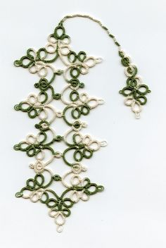 """Sherry's Chatelaine"" Bookmark made by tatting"