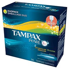 Tampax Pearl Plastic Unscented Regular and Super Absorbency Tampons - 36 Count Always Pads, Natural Rubber Latex, Active Ingredient, Discover Yourself, Packaging Design, Make It Simple, Packing, Perfume, Beauty Products