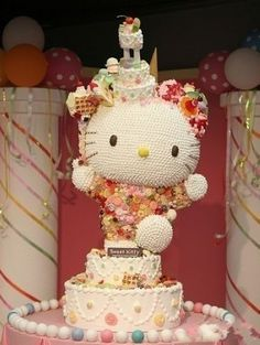 I won't feel loved until presented with a Hello Kitty cake like this.