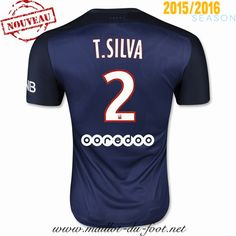 vente maillot foot psg T SILVA 2 domicile 2015 2016 saison