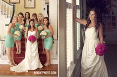 bridal party pictures taken at the Gasparilla Inn
