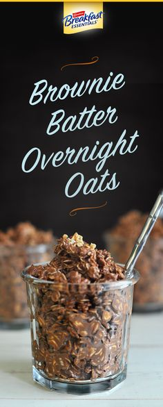Brownie Batter Overnight Oats is an easy breakfast idea that you can meal prep the night before – so it's perfect for busy weekday mornings. Mix rolled oats, almond milk, greek yogurt, cocoa powder, a little salt and Carnation Breakfast Essentials® Light Start™ powder drink mix in Rich Milk Chocolate and let it sit overnight. The next morning just heat it up. You'll have a nutritious breakfast with 21 vitamins and minerals and protein you'll think just out of the oven.