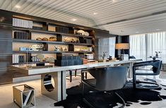 Interior Design Chicago, Interior Design Pictures, Office Interior Design, Office Interiors, Office Furniture Design, Office Decor, Home Office, Office Art, Pale Blue Walls