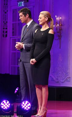 Talented duo: Between them Vernon and Tess have hosted some of TV's biggest entertainment . Vernon, Lbd, Red Carpet, Awards, British, Husband, Entertainment, Glamour, Formal
