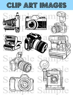 Camera Clipart Clip Art Photography Logo Elements by BridalBust, $4.00