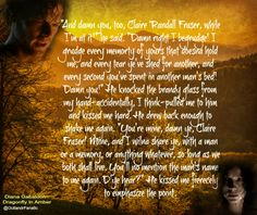 One of my favorite quotes from Dragonfly in Amber!