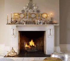 cute Christmas mantle