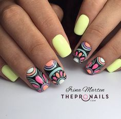 #nails #inspiration #colorful #summer