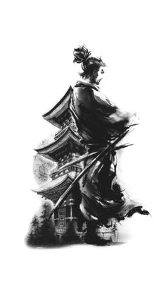 Japanese Temple Tattoo, Japanese Dragon Tattoos, Japanese Tattoo Art, Japanese Sleeve Tattoos, Samurai Warrior Tattoo, Warrior Tattoos, Japan Tattoo Design, Ronin Samurai, Arte Ninja