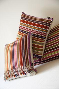 Mexicanhand woven Pantelhó pillows from Maggie Galton, Mexico City