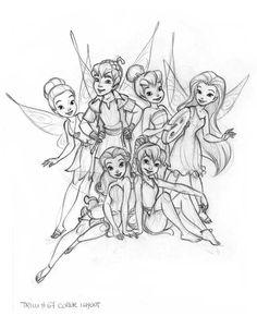 Disney Fairies Magazine - Cover by Sara Storino —Please, don't remove credit— Disney Drawings Sketches, Fairy Drawings, Drawing Sketches, Tinkerbell And Friends, Disney Fairies, Disney Artwork, Disney Fan Art, Hades Disney, Merida Disney
